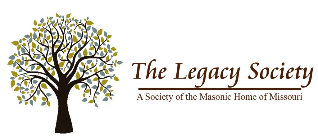 Logo for the Legacy Society-a program through the Masonic Home of Missouri