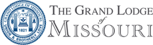 logo for The Grand Lodge of Missouri, a charitable organization supporting the masons.